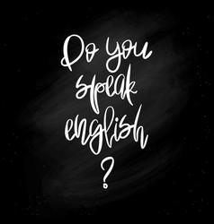 Do you speak english - poster vector