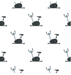 Exercise bike pattern flat vector