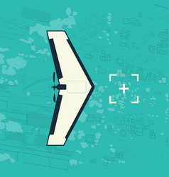 Flying military drone vector