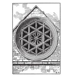 Gothic architecture rose hexagonal window square vector