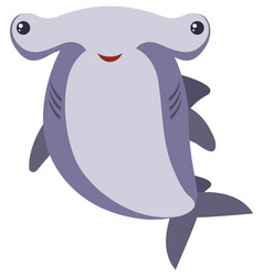 Hammerhead shark on white background vector