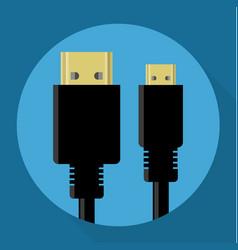 Hdmi connectors icon vector