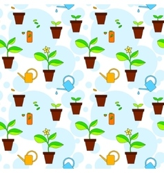 House plant growth and care advice seamless vector image vector image