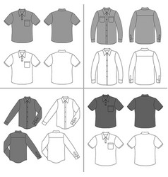 Mans shirt set vector