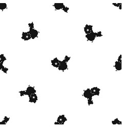Map of china pattern seamless black vector