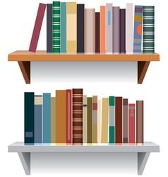 Modern bookshelves vector