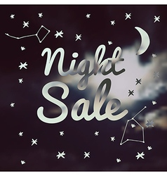 Night sale on a blurred background vector