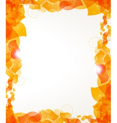 Orange petals frame vector