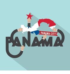 Panama city the capital of panama typography vector