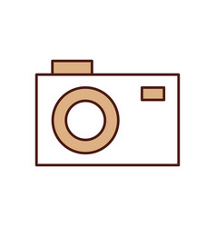 Photographic camera isolated icon vector