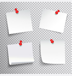 Pinned paper set vector