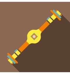 Rear axle icon flat style vector
