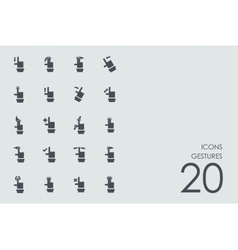 Set of gestures icons vector image