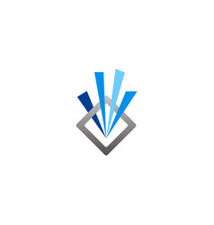 Square line abstract company logo vector