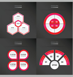 Template design 4 item neon pink color vector