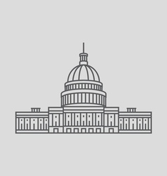 United States Capitol vector image