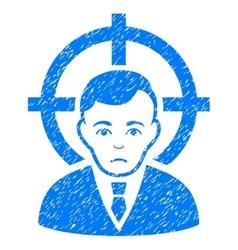 Victim businessman grainy texture icon vector