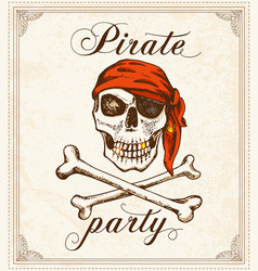 vintage pirate background vector image vector image