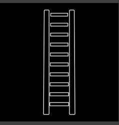 wooden step ladder the white path icon vector image vector image