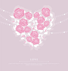 Roses heart vector