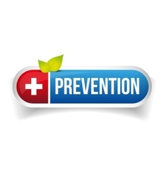 Prevention button icon vector
