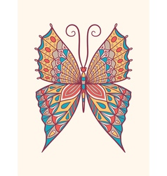 Retro colored butterfly vector