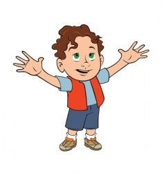Cute toddler boy vector