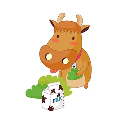 A view of cow vector