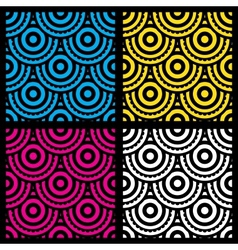 Seamless patterns with circles vector image