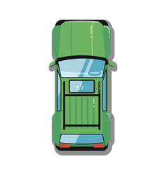 Modern off road car top view icon vector