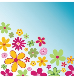 retro flowers vector image