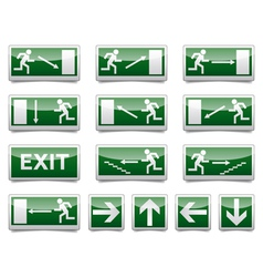 Danger exit warning sign vector