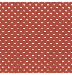 Seamless vintage polka dot vector
