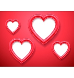 Heart shaped picture frames vector