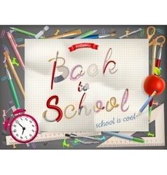 Back to school greeting card EPS 10 vector image