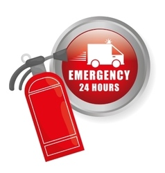 Emergency icon vector