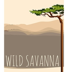 Nature scene with wild savanna vector