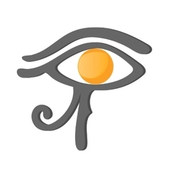 Eye of horus icon cartoon style vector