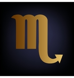 Scorpio sign golden style icon vector