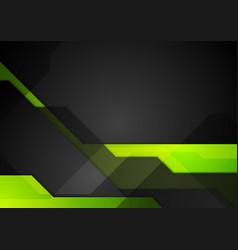 Green black abstract tech background vector image