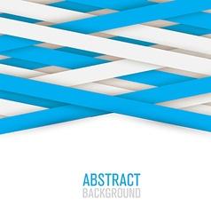 abstract creative and shadow paper lines isolated vector image vector image