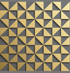 abstract gold triangle pattern background vector image