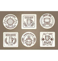Beer coaster or drink coaster vector image vector image