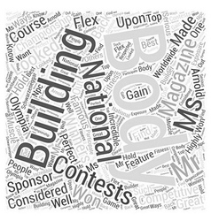 Body building national championship word cloud vector