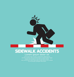 Businessman get accidents on sidewalk symbol vector