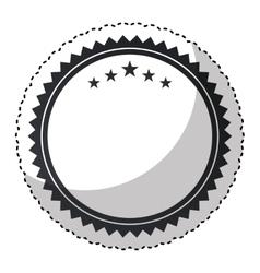 Elegant circular frame icon vector