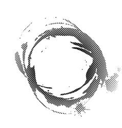 Halftone coffee spot vector image vector image