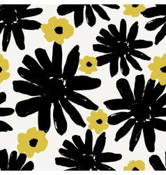 Hand Drawn Flowers Seamless Pattern vector image vector image