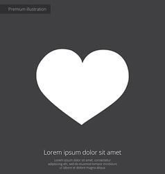 heart premium icon white on dark background vector image