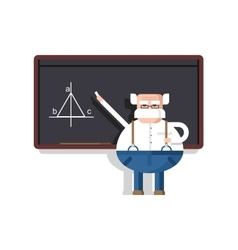 Lecture by professor vector image